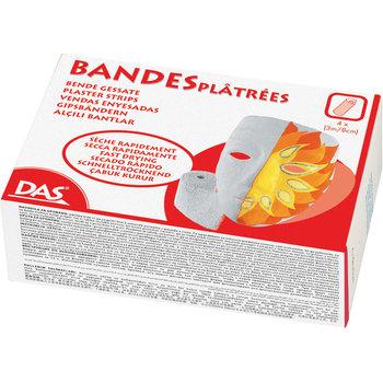 """DAS Plâtre """"Guaranted by DAS"""" - 4 bandes plâtrées 3m x 8cm"""
