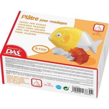 """DAS Plâtre """"Guaranted by DAS"""" - Boîte carton 1kg préparation pour moulage (plâtre poudre)"""