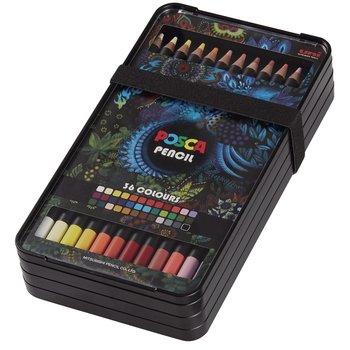 POSCA Coffret de 36 crayons de couleur Pencil KPE200/36 001 Couleurs assorties