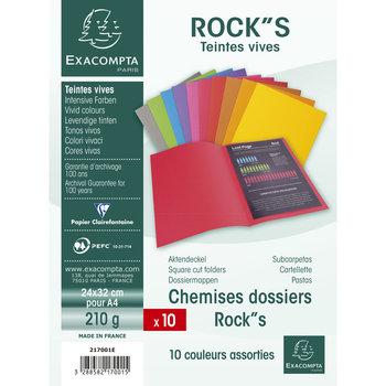 EXACOMPTA Paquet de 10 chemises ROCK''S 210 - 24x32cm - Couleurs assorties