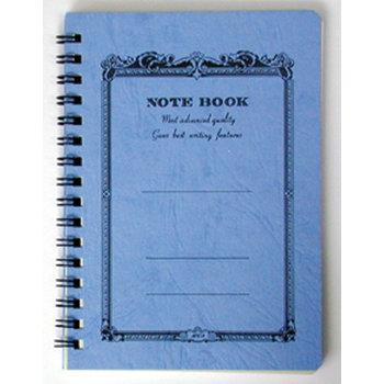 APICA NOTE BOOK Spirales côté 18x25 bleu ligné