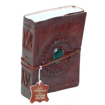 SUPPLEMENT D'A.M ONYX carnet cuir  et pierre semi préc. 12x15 cm