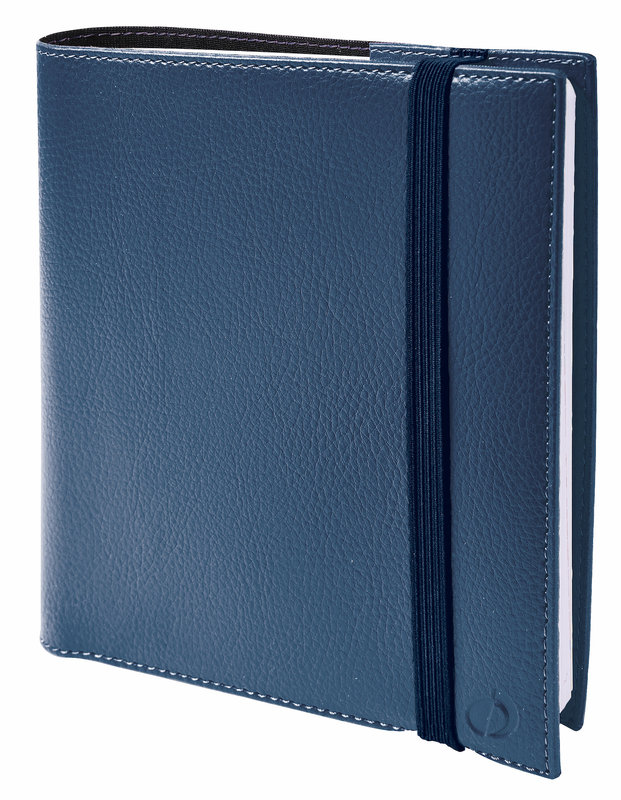 QUO VADIS Agenda Civil Time&life semainier 16x16cm bleu irisé élastique