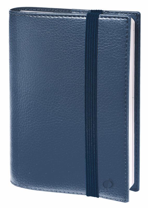QUO VADIS Agenda Civil Time&life semainier 10x15cm bleu irisé élastique