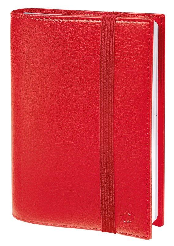 QUO VADIS Agenda Civil Time&life semainier 10x15cm rouge élastique