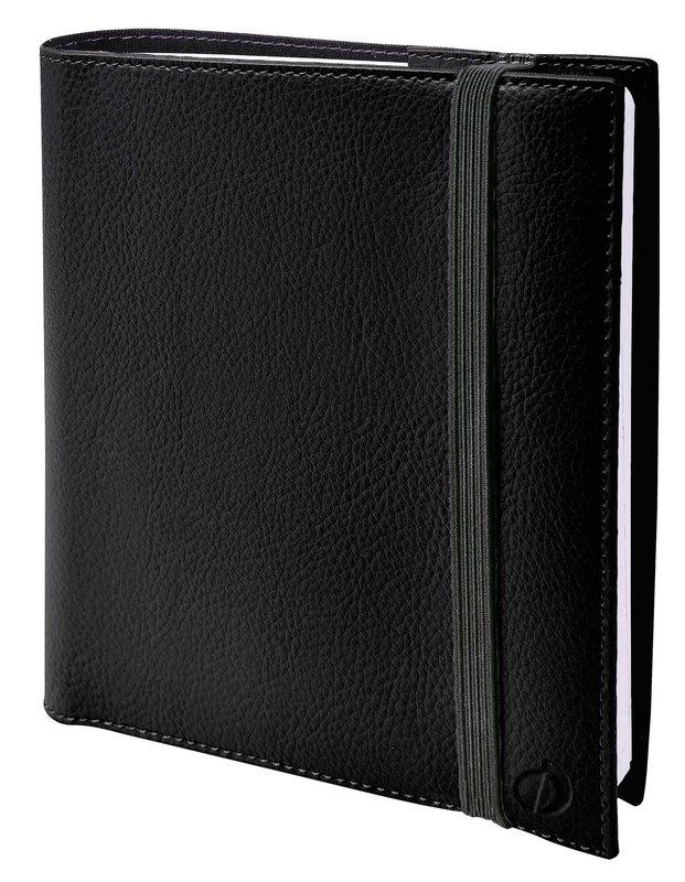 QUO VADIS Agenda Civil Time&life semainier 16x16cm noir élastique