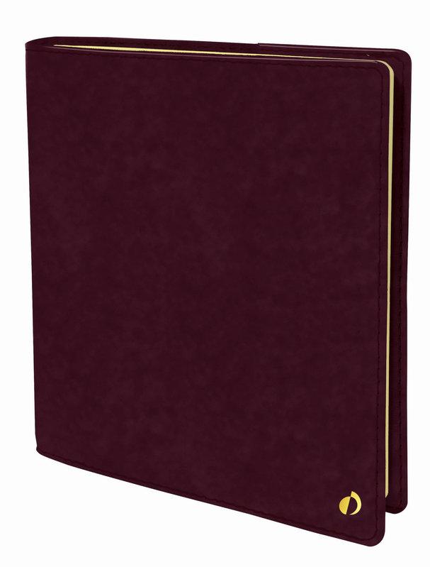 QUO VADIS Agenda Civil Exécutif Prestige Wild rep semainier 16x16cm prune