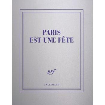 """GALLIMARD Carnet carré argent ligné """"PARIS EST UNE FÊTE"""""""