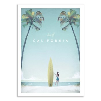 ART POSTER Surf California - Henry Rivers - 30 x 40 cm