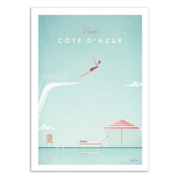 ART POSTER Visit Cote d'Azur - Henry Rivers W16309 - 50 x 70 cm