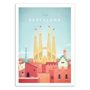 ART POSTER Visit Barcelona - Henry Rivers - 50 x 70 cm