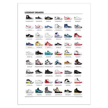 ART POSTER Legendary Sneakers - Olivier Bourdereau - 50 x 70 cm