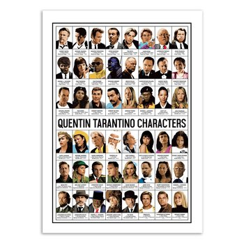 ART POSTER Quentin Tarantino characters - Olivier Bourdereau W18965 - 50 x 70 cm
