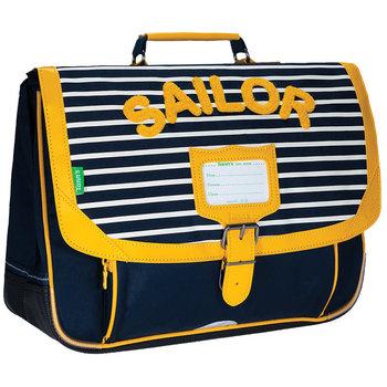 TANNS Cartable 38 cm fantaisie Sacha bleu/jaune