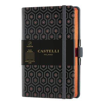 CASTELLI Carnet C&G  poche ligné Honeycomb Copper