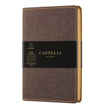 CASTELLI Carnet Harris poche ligné tobacco brown.