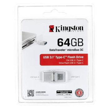 KINGSTON Clé USB double entrée DataTraveler  - 64 Go - USB 3.1 Type A, USB 3.1 Type C
