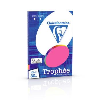 CLAIREFONTAINE Trophée - Papier couleur - A4 (210 x 297 mm) - 80 g/m² - 100 feuilles - coloris fluos assortis