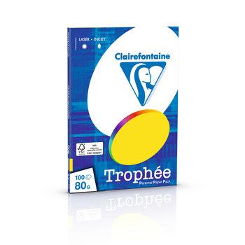 CLAIREFONTAINE Trophée - Papier couleur - A4 (210 x 297 mm) - 80 g/m² - 100 feuilles - coloris intenses