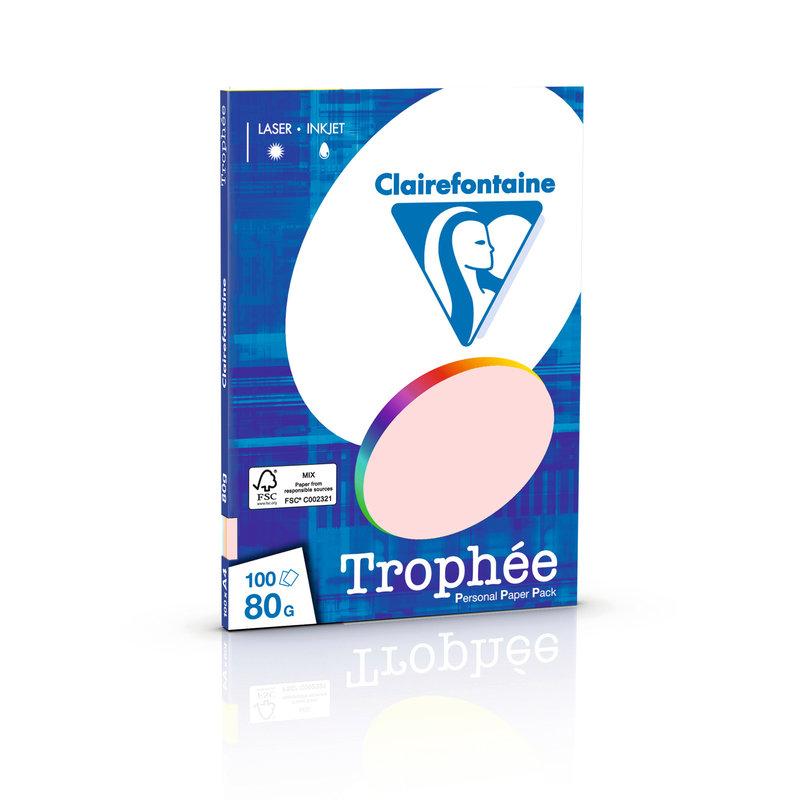 CLAIREFONTAINE Trophée - Papier couleur - A4 (210 x 297 mm) - 80 g/m² - 100 feuilles - assortiment pastel