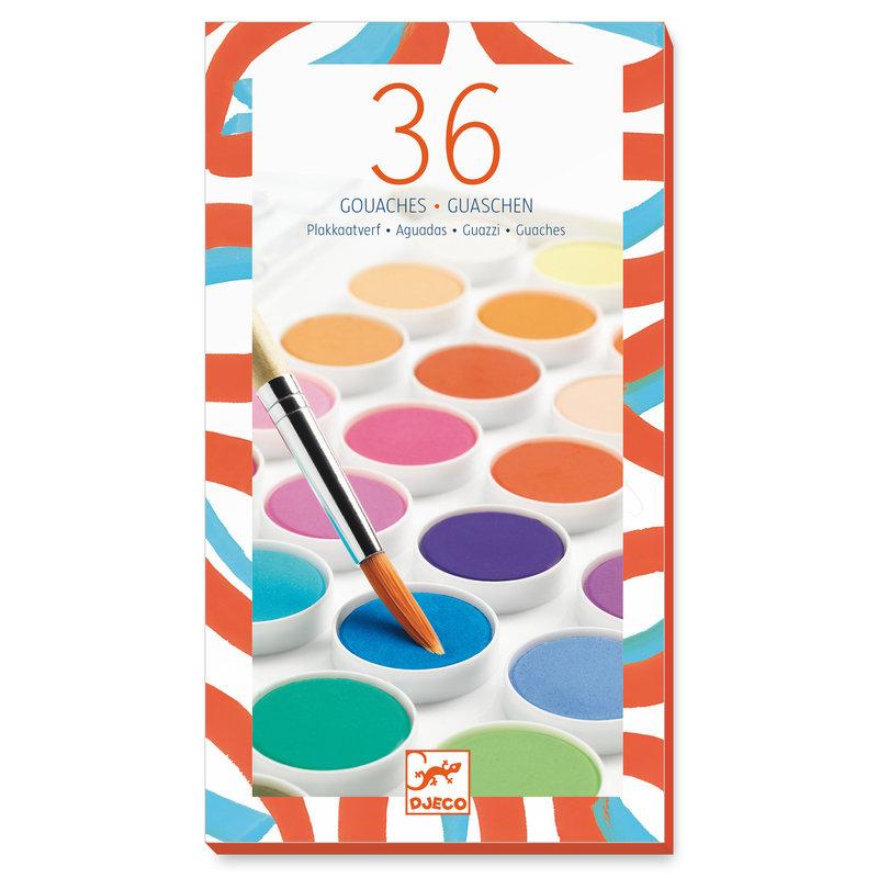 DJECO Les couleurs - Pour les grands 36 pastilles de gouaches