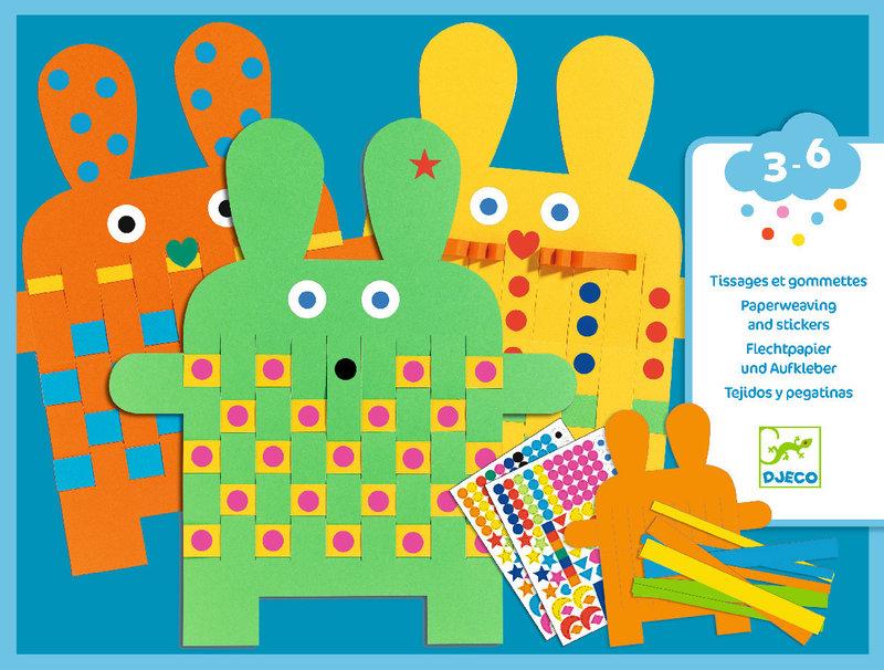 LOVELY PAPER Stickers pour les petits  6 lapins