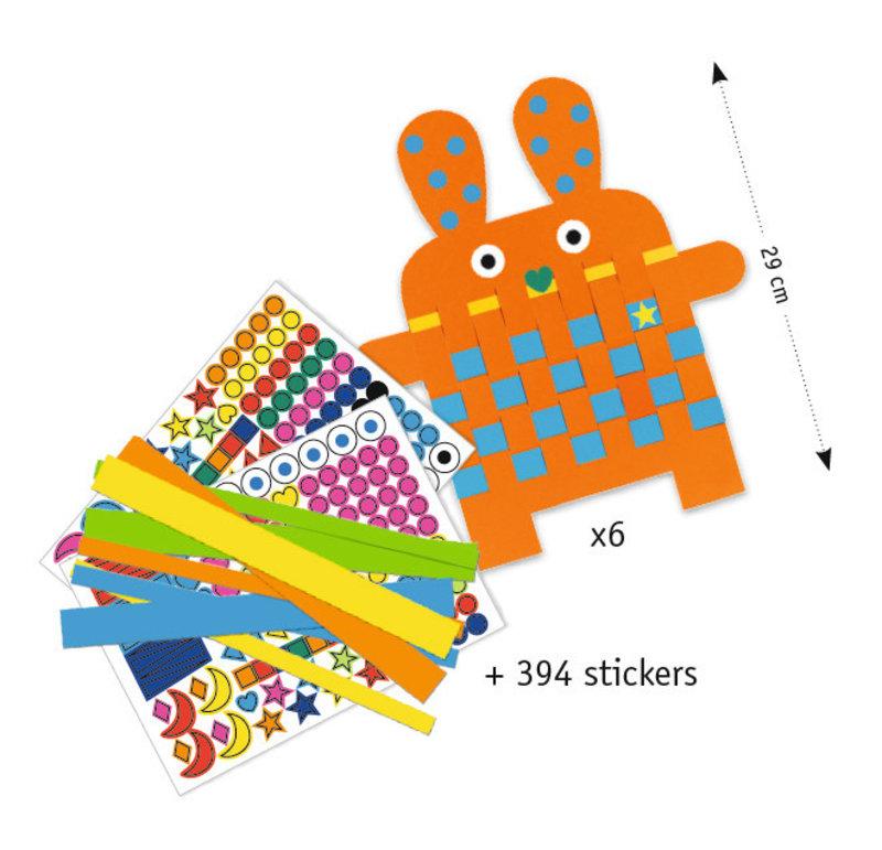 DJECO Stickers pour les petits  6 lapins