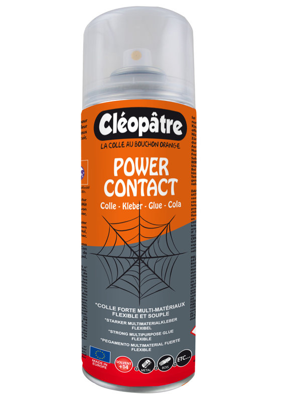 """CLEOPATRE """"POWER CONTACT"""" aérocolle CLEOR 250 ML"""