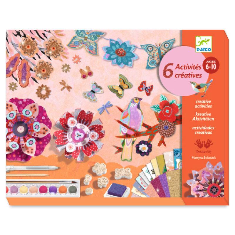 LOVELY PAPER Coffrets multi-activités  Le jardin de fleurs