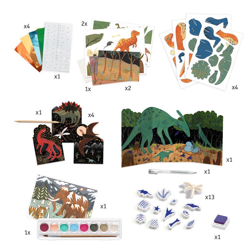 DJECO Coffrets multi-activités  Le monde des dinosaures