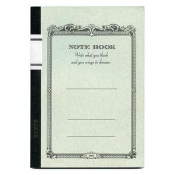 APICA Cahier 18x24cm Couverture Blanche 200 Pages étiquette dos intérieur ligné