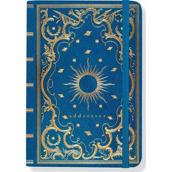 PETER PAUPER PRESS Carnet d'adresses Celestial 160 pages Fermeture elastique
