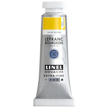 LEFRANC BOURGEOIS Linel Gouache Extra-Fine 14Ml Tbe Jaune Moyen Sans Cad