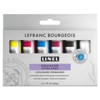 LEFRANC BOURGEOIS Linel Gouache Extra-Fine 6X14Ml Mix Set Couleur Primaire