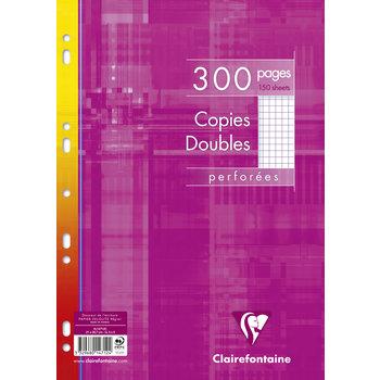 CLAIREFONTAINE Copies doubles 21x29,7cm 300p 5x5 sous film