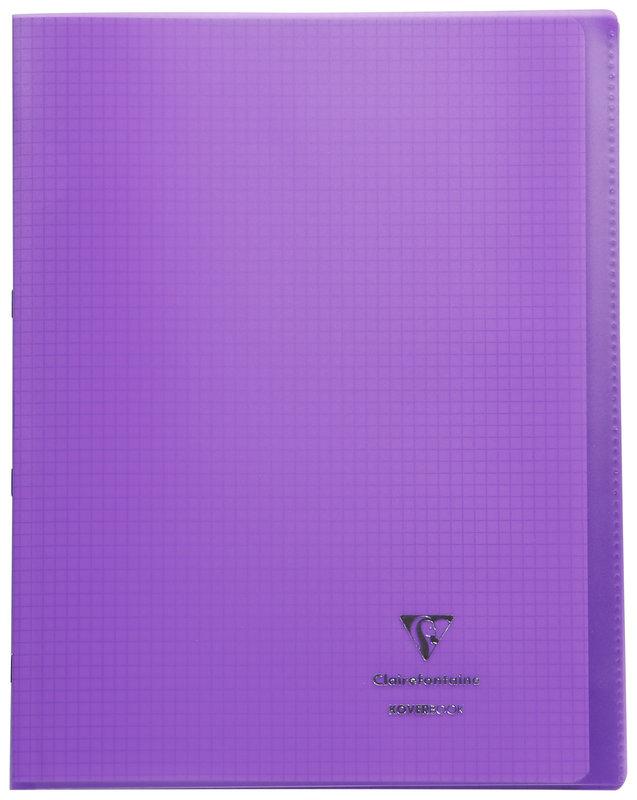 CLAIREFONTAINE Koverbook Cahier piqué petits carreaux couverture polypropylène - 24x32 cm - 48 pages - Coloris aléatoires