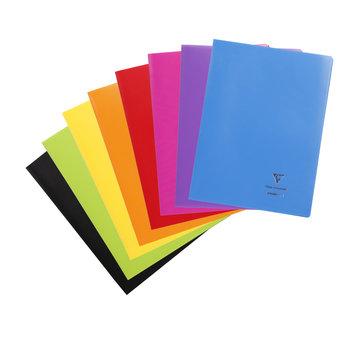 CLAIREFONTAINE Koverbook Cahier piqué petits carreaux couverture polypropylène - 21x29,7 cm - 96 pages - Coloris aléatoires