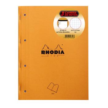 RHODIA Orange Bloc de cours perforé 21x31.8cm 160 pages 5x5
