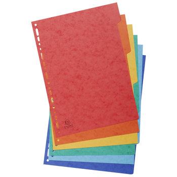EXACOMPTA Intercalaires carte lustrée 225g 6 positions - A4