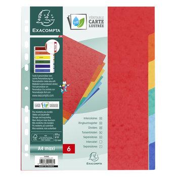 EXACOMPTA Intercalaires carte lustrée 225g 6 positions - A4 maxi