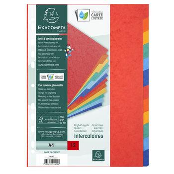 EXACOMPTA Intercalaires carte lustrée 225g 12 positions - A4