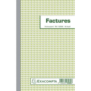 EXACOMPTA Manifold Factures 21x13,5cm 50 feuillets dupli auocopiants