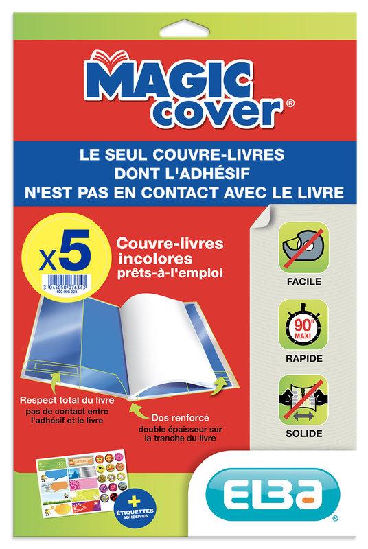 OXFORD 5 Feuilles Couvre - Livres Incolores - Magic Cover - PVC