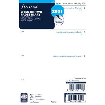 FILOFAX Recharge A5 2021 Semainier sur 2 pages