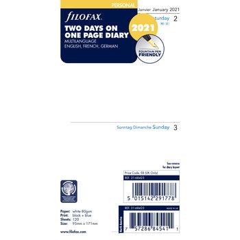 FILOFAX Recharge Filofax 2021 2 jours/pages