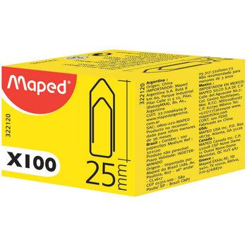 MAPED Attache-lettres 25 mm, boîte de 100