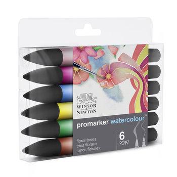 WINSOR & NEWTON Watercolour Marker Set De 6 Marqueurs Tons Floraux