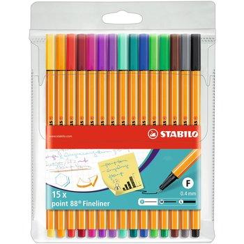 STABILO Pochette x 15 stylos-feutres point 88 - coloris assortis