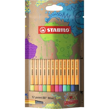STABILO Sachet x 12 stylos-feutres point 88 Mini #mySTABILOdesign
