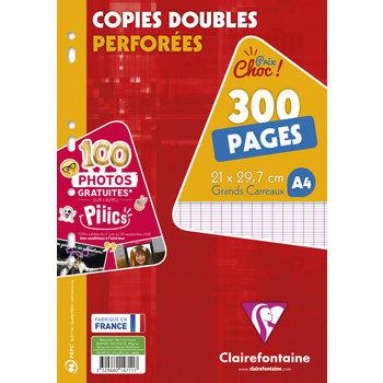 CLAIREFONTAINE Copies Doubles 21x29,7cm 300p séyès sous film